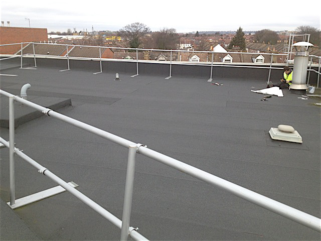 Industrial unit flat roof repair